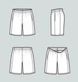 basketball shorts vector image