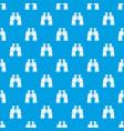binoculars pattern seamless blue vector image vector image