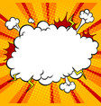 bomb explosion cloud comic book pop art vector image vector image
