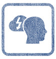 brainstorming fabric textured icon vector image vector image