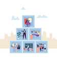 business characters working in office company vector image