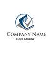 business finance logo - concept vector image vector image