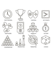 Business gamification icons vector image