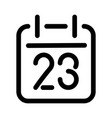 calendar or schedule icon symbol of planning vector image