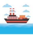 cargo ship icon vector image vector image