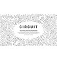 circuit board texture for banner abstract vector image vector image