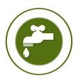 circular frame with symbol saving water faucet vector image vector image