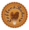 Coffee bakery vector image