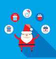 cute santa claus modern flat design style vector image vector image