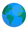 earth globe icon flat style vector image vector image