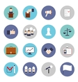 Elections icons flat set vector image vector image