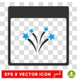 Fireworks Calendar Page Eps Icon vector image vector image