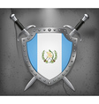 Flag of Guatemala Medieval Background vector image vector image
