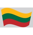 Flag of Lithuania waving vector image