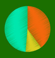 flat shading style icon pie chart vector image vector image