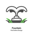 fountain outline flat vector image