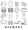 germany country theme outline icons set eps10 vector image vector image