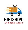 gift shipo design vector image vector image