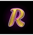 golden and pink letter r vector image vector image