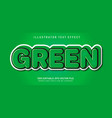 green text effect vector image vector image