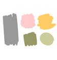 Hand drawn set colorful shapes design elements