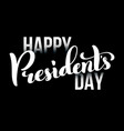 happy presidents day in usa card template poster vector image vector image