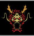 head dragon hand drawing vector image vector image