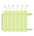heating battery icon cartoon style vector image vector image