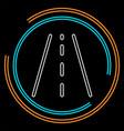 highway road street sign - traffic vector image