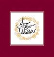 i like winter poster in frame made of snowflakes vector image vector image