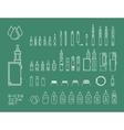 icon set of vaping e-cigarette vector image vector image
