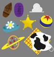 icon set toy movie cartoon vector image vector image