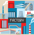 industrial factory background vector image vector image