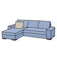 light blue sofa vector image vector image