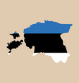 map estonia isolated black on white background vector image vector image