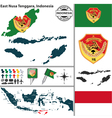 Map of East Nusa Tenggara vector image vector image