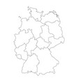 map of germany divided to federal states and city vector image vector image