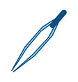 medical tweezer isolated vector image