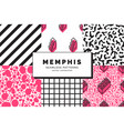 memphis seamless patterns vector image vector image