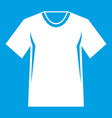 men tennis t-shirt icon white vector image