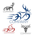 modern bicycle logo vector image