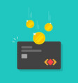 money refund or cashback idea on credit card vector image