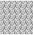 Pattern with hand drawn hearts vector image vector image