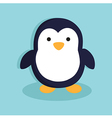 Penguinin Blue Background vector image vector image