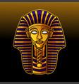 pharaoh head mascot logo design vector image