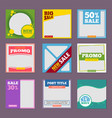post template editable promo banners with place vector image