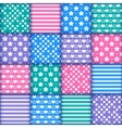 Set of 16 colorful seamless vector image vector image