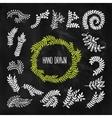 Set of hand drawn laurels wreath branches vector image vector image