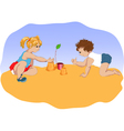 small children vector image