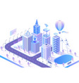 smart city modern concept isometric vector image vector image